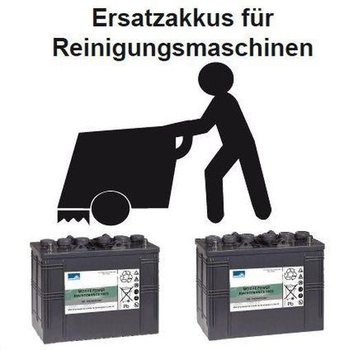 Replacement battery for BA 611 D - Part No. 80564310 Cleaning machine Battery - Battery