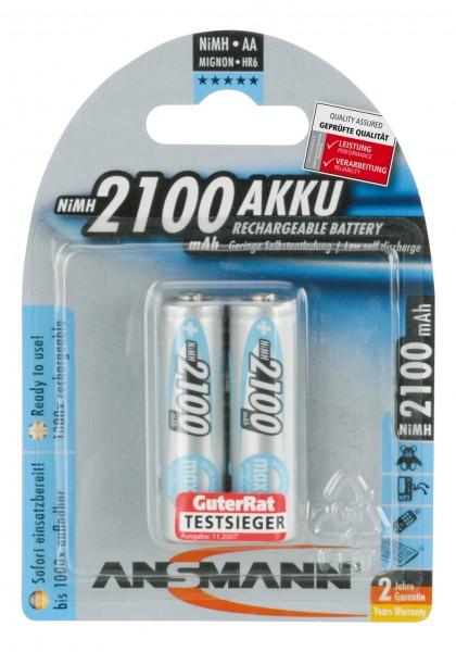 Ansmann Battery Mignon AA HR06 2100mAh NiMH (2 Blister)