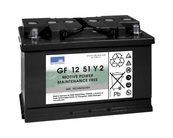 Exide Sonnenschein GF 12 051 Y 2 dryfit lead gel traction battery 12V 56Ah (5h) VRLA