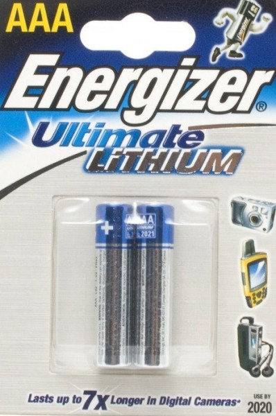 Energizer Ultimate Lithium L92 Micro AAA Battery (2 Blister)