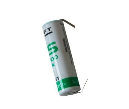 Saft LS 14500-cnr with solder tape ER-AA Industrial cell Lithium thionyl chloride Battery