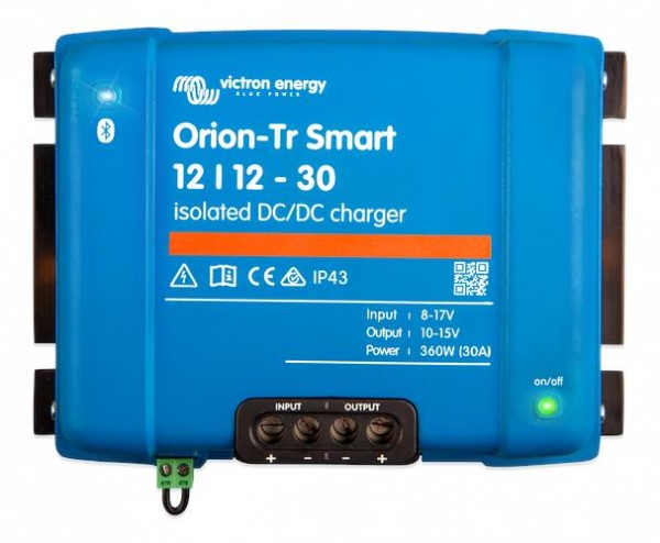Victron Energy Orion-Tr Smart 12/12-30A (360W) Isolated DC-DC charger ORI121236120