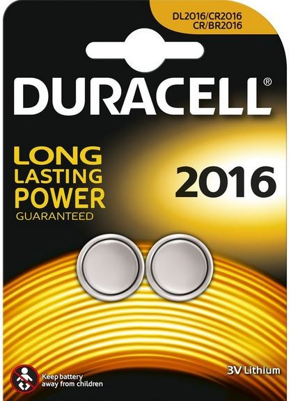 Duracell Lithium CR2016 Button Cell (2 Blister)