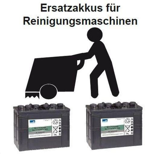 Replacement battery for BA 500 - Part No. 00200031 Cleaning machine Battery - battery