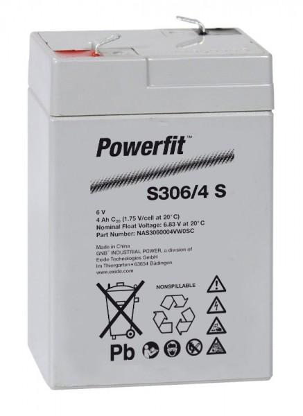 Exide Powerfit S306/4 S 6V 4,5Ah dryfit lead battery AGM