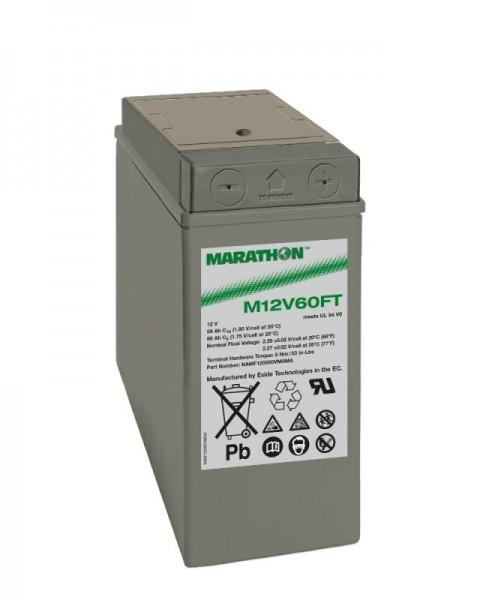 Exide Marathon M12V60FT 12V 59Ah UL94-V0 Front terminal AGM lead fleece battery VRLA