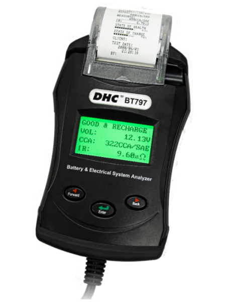 DHC - BT797 Digital Battery Tester with printer