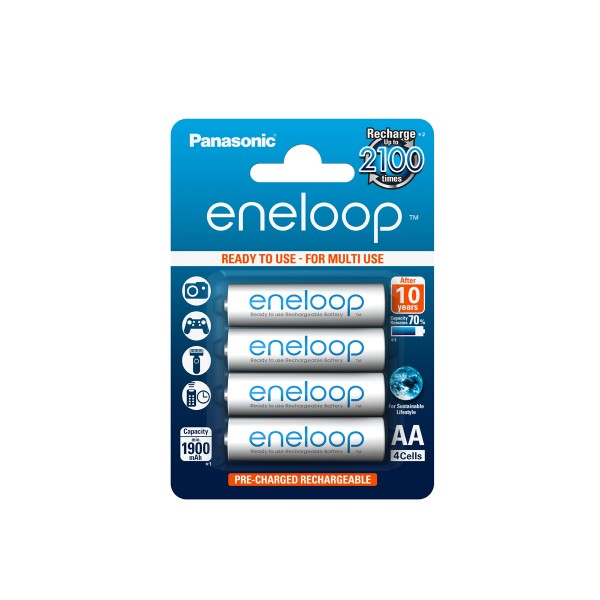 Eneloop Battery BK-3MCCE AA 1900mAh Ready to use (Blister of 4)