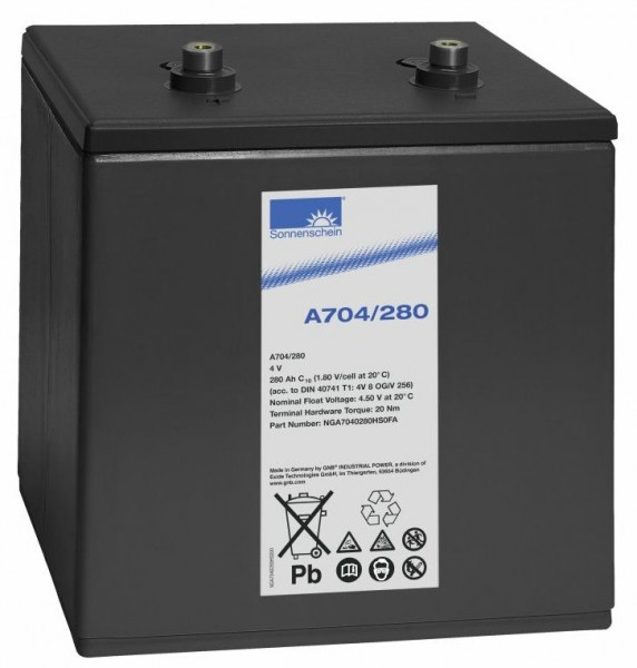 Exide Sonnenschein A704/280 4V 280Ah (C10) dryfit Gel battery