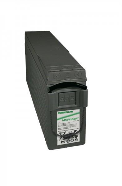 Exide Marathon M12V105FT 12V 100Ah UL94-V0 Front terminal AGM lead fleece battery VRLA