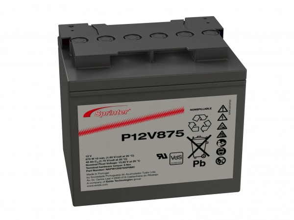 Exide Sprinter P12V875 12V 41Ah lead AGM battery with VdS
