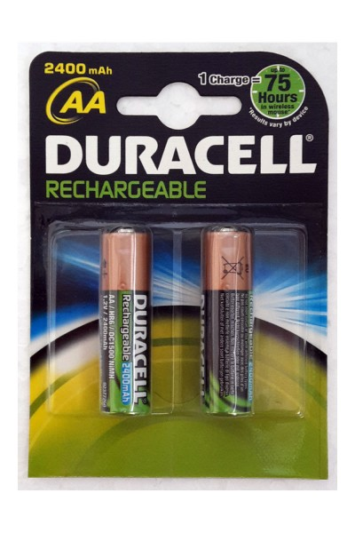 Duracell Rechargeable Precharged Battery Mignon AA HR6 2400mAh NiMH (Blister of 2)