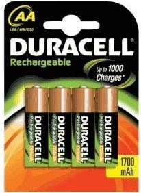 Duracell Recharge Ultra Battery Mignon AA HR6 2500mAh NiMH Precharged (Blister of 4)