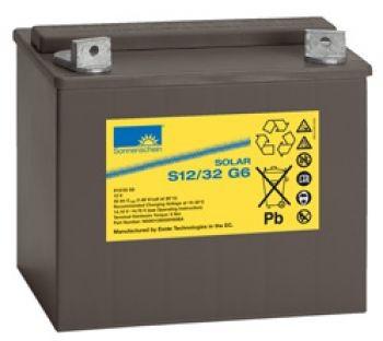 Exide Sonnenschein Solar S12/32 G6 lead gel battery 12V 32Ah