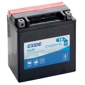 ETX20CH-BS EXIDE MOTORCYCLE BATTERY 12V 18AH 230A
