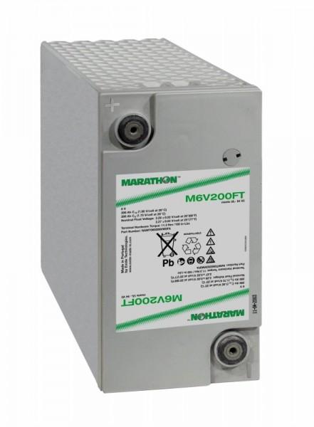 Exide Marathon M6V200FT 6V 200Ah Front terminal AGM lead fleece battery VRLA
