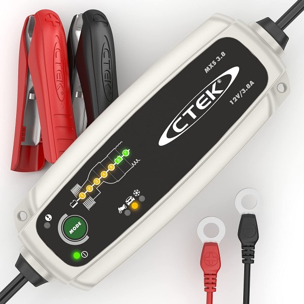 CTEK MXS 3.8 Charger (AC-grid) for lead battery 12V 3.8A charging current high frequency charger