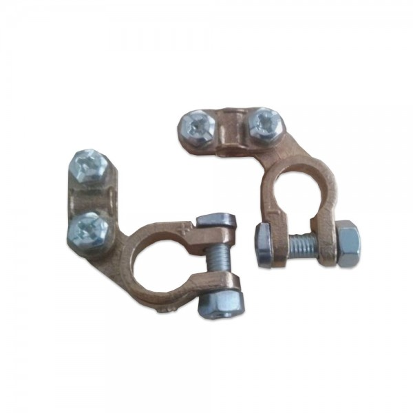 Battery terminals / pole terminals angled for Automotive posts (pair)