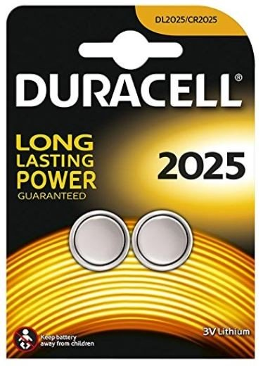 Duracell Lithium CR2025 Button Cell (2 Blister)